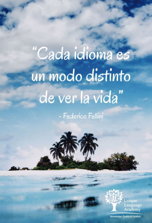 Federico Fellini Quote - Cada idioma es un modo distinto de ver la ...