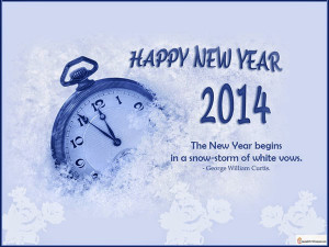 أجمل ما قيل في السنة الجديدة 2014 wish you ...