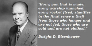 Dwight D Eisenhower Quotes D Day ~ Dwight D. Eisenhower Peace Quotes ...