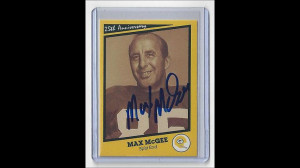PACKERS Max McGee signed 25th Anniversary SB I card AUTO Green Bay ...