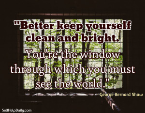 George Bernard Shaw Quote: You're the Window Through Which You Must ...