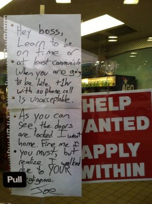 funny quitting job notes