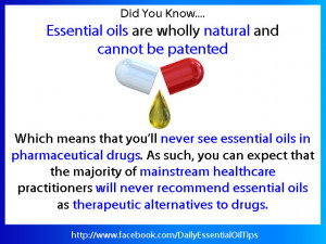Essential Oils are natural alternatives to drugs