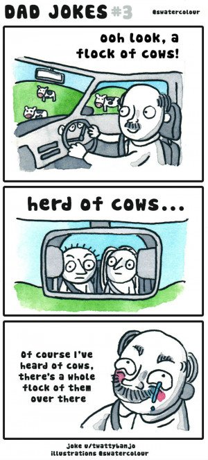 Dad Jokes: Flock of Cows