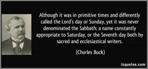 Sabbath Day Quotes