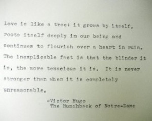 ... : unreasonable, love quote, masterpiece, Notre Dame de Paris and tree