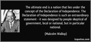 The ultimate end is a nation that lies under the concept of the ...
