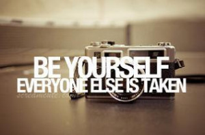 Be what you want to be, and now what others want to see