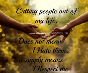 Quotes About Manipulative Men   cutting people out of my life doesn't ...