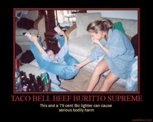 burrito supreme burrito gas fart funny wtf demotivational poster