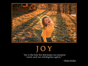 ... on Joy : Joy is the holy fire that keeps Quote by ( Helen Keller