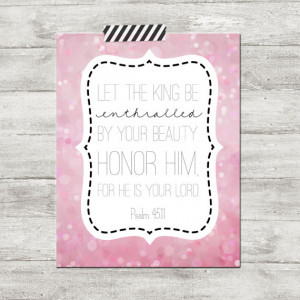 Baby teen Girl Bible verse nursery quote poster print 11x14 let the ...