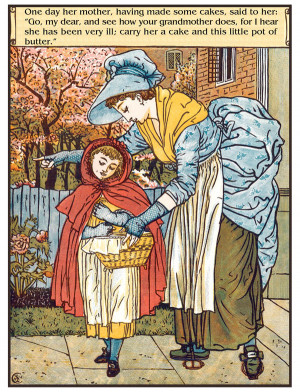 Illustration by Walter Crane from Fairy Tales of Charles Perrault .