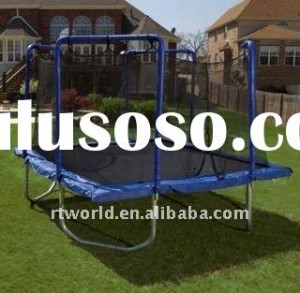 good quality rectangle trampoline with safety net jpg