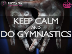 Artistic Gymnastics motivational poster @ Gymnastics Floor Music