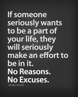 Life Quotes - If someone seriously wants to be a part