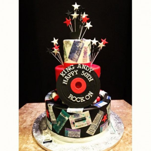 Rock Roll Birthday Cake Cakes