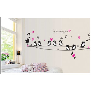 The Birds Will Sing For Us Wall Sticker