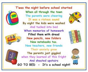 ... subject of Humorous Back to School Poems school site design graphics