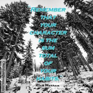 Rick Warren Quote - Character - forrest