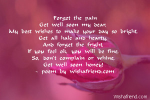 Get Well Soon Poems...