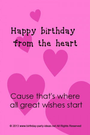 Cute Birthday Sayings Quotes Messages Wording Cards Wishes