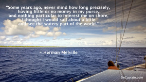 sailing quotes, Herman Melville quote, famous melville quotes, sailing ...