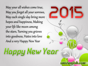 New year greetings 2015