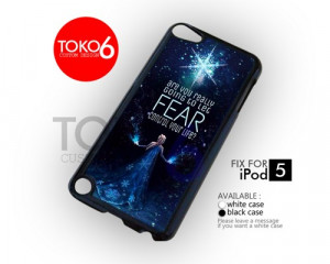 AJ 3850 Queen Elsa Frozen Quotes Glitter - iPod 5 Case