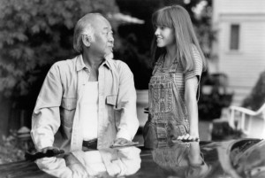 Still of Pat Morita and Hilary Swank in The Next Karate Kid (1994)