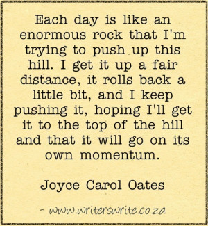 Writing Quote – Joyce Carol Oates
