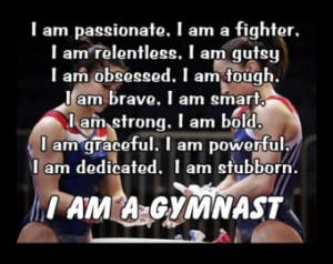 Gymnastics Poster I AM A GYMNAST Quote Inspiration Motivation Pride ...