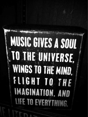 ... jazz and big band.Inspiration, Life, The Universe, Music Quotes, Soul