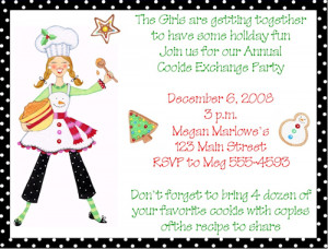 Cookie Swap Christmas Party Invitations