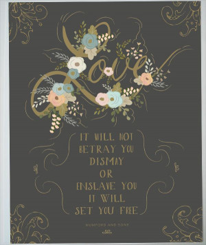 ... print for your Wedding Gold and charcoal Mumford & Sons Quote- 11 x 14