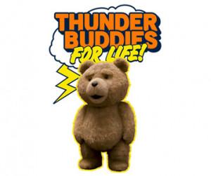Thunder Buddy T-Shirt Teddy Bear Plush Design
