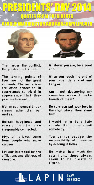 Quotes from Presidents George Washington and Abraham Lincoln