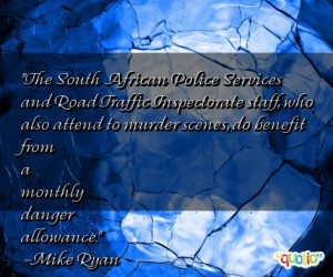 The South African Police Services and Road
