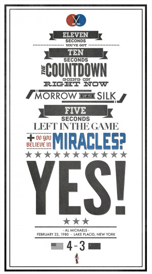 buddy of mine made this Miracle on Ice typography poster. – Imgur