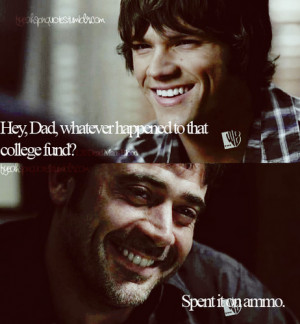 Supernatural Quotes Hey dad....