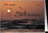 25th birthday wishes card - Product #497119