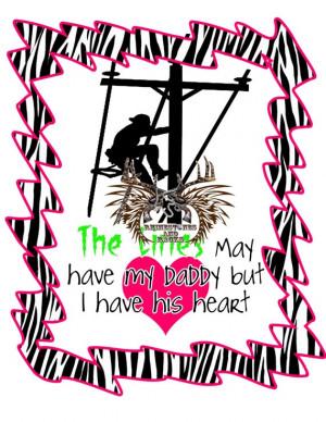 Lineman Daddys Heart Shirt by RhinestonesandRacks on Etsy, $18.00
