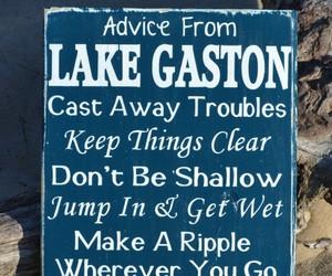 ... Lake House Decor - Lake Gift - Lake Life Sayings Quotes on Wood - Lake