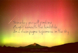 Oasis. Champagne Supernova - beautiful.