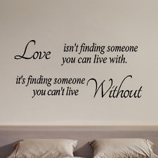 New Love isn't finding Quote Letter Wall Sticker Home Arts Decor ...