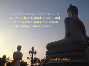 Lord Buddha Preaching : A generous heart, kind speech, and a life of ...