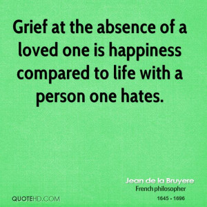 Grief The Absence Loved One...