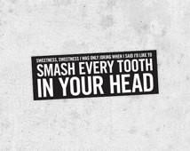 The Smiths lyric Sticker!