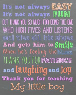 Preschool Teacher Appreciation Poems Teacher thank you on pinterest