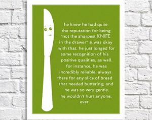 Kitchen Sign Lime Green Kitchen Decor Butter Knife Art Kitchen Sayings ...
